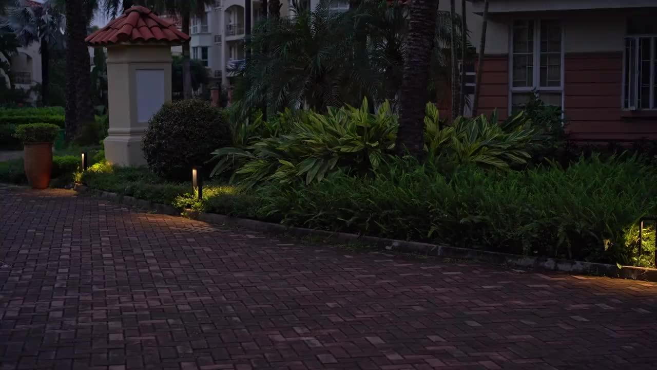 Al aire libre Ip65 Cob 7W 10W Anti Glare bolardo Led luces Led jardín Luz de césped