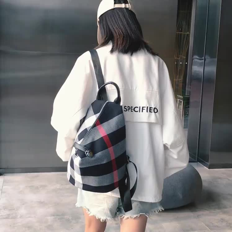 canvas lady backpack casual soft  schoolbag temperament travel backpack
