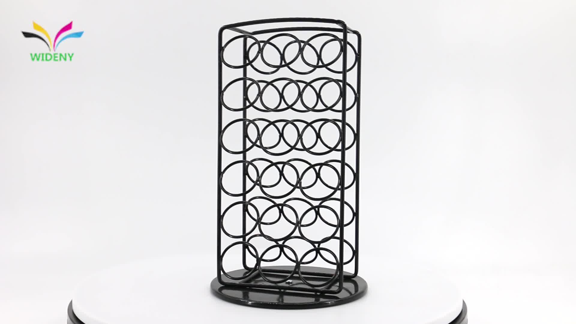 Настроить Toprank Лидер продаж K-Cup вращающийся черный металл кофе капсулы держатель