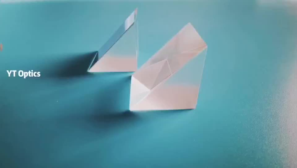 90 Degree BK7/CaF2/Fused Silica Glass Right Angle Triangle Prism