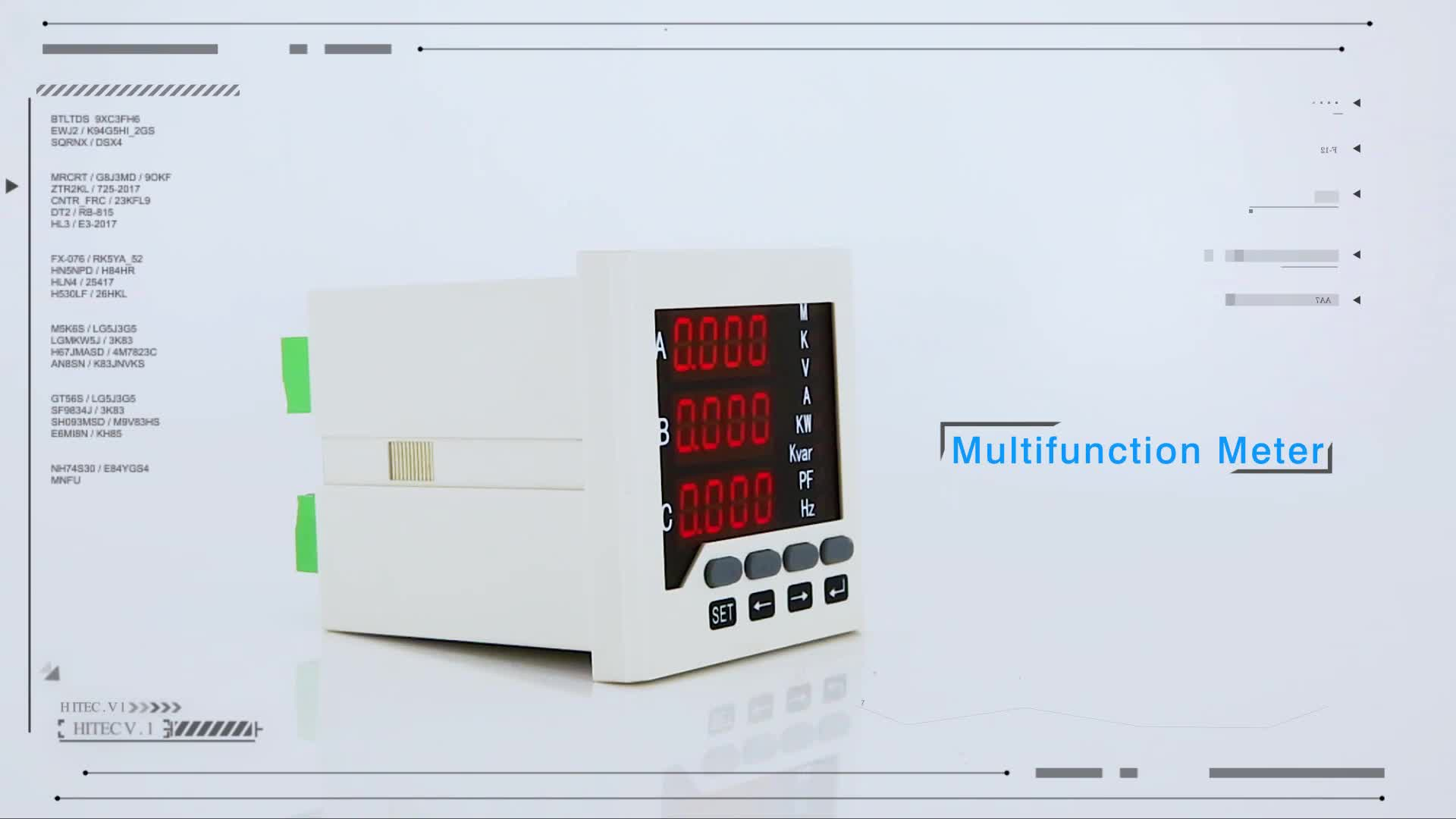 Hot sale Three phase LED Display  current meter with RS-485