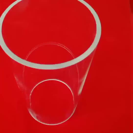 large diameter clear tempered borosilicate glass tube with 5mm wall thickness