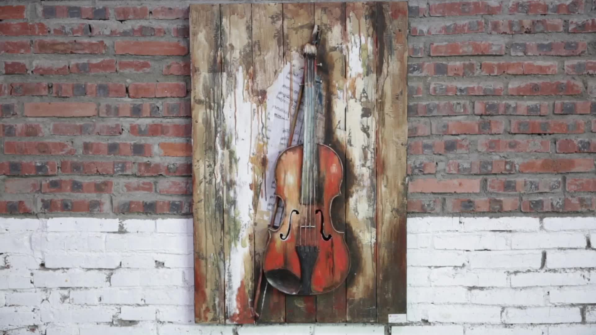 Buatan Tangan dan Minyak Lukisan Alat Musik Dinding Seni 3D Dekorasi Siap untuk Kapal