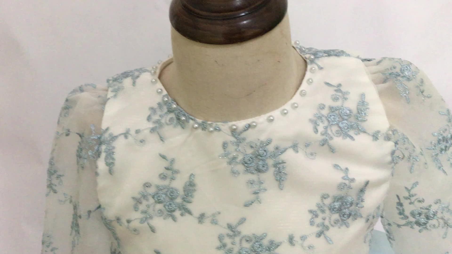 ページェントドレス vestido デプリメーラ comunion ヴィンテージ刺繍フラワーガールのドレスウェディング