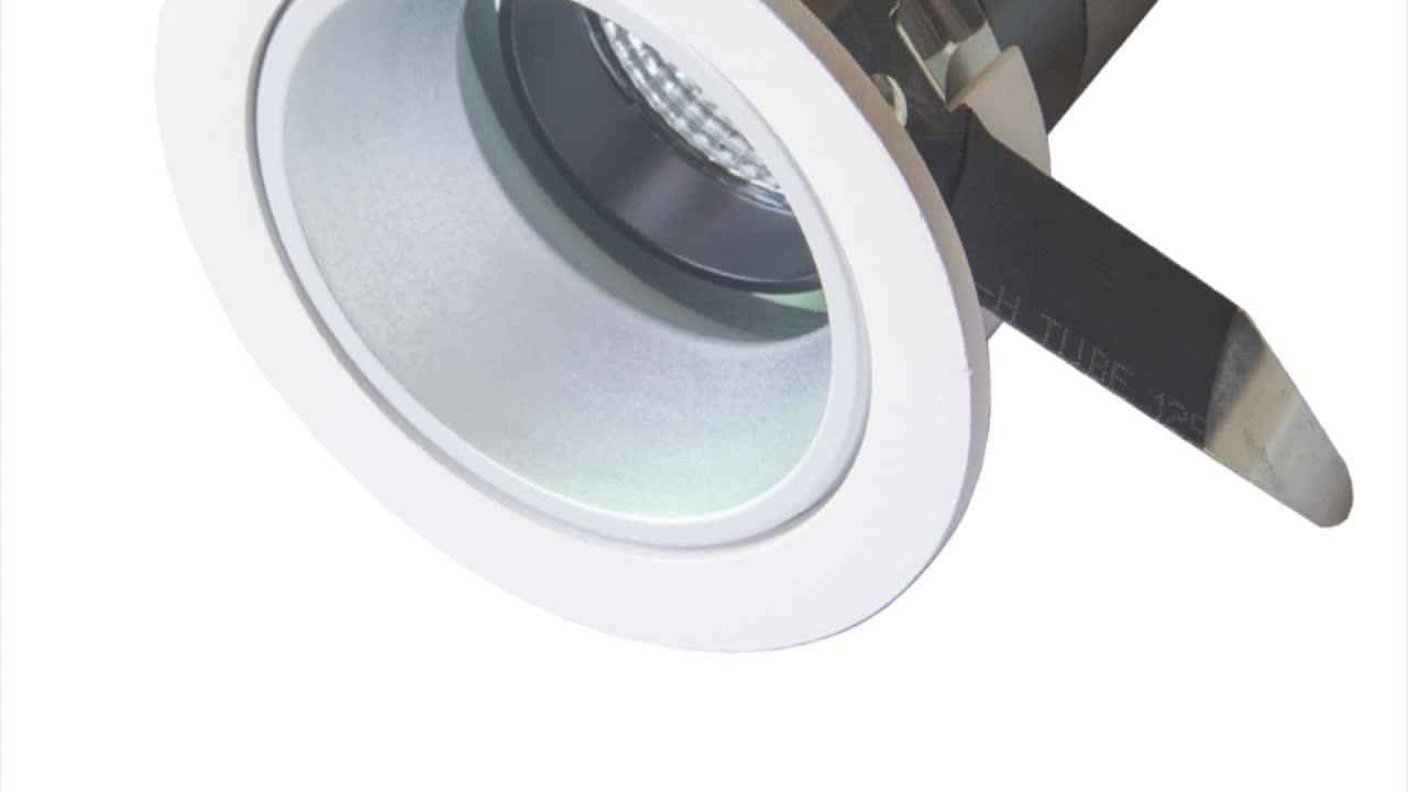 12 ワット cob ダウンライト空ハウジング 2.5 インチ調節可能な凹型ダウンライトアクセサリーダイカストアルミ 20 ワット