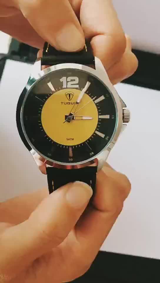 Sun Wajah Kulit Asli untuk Besar Pergelangan Tangan Wanita dan Pria Yang Unik Jam Tangan Desain Pembuatan
