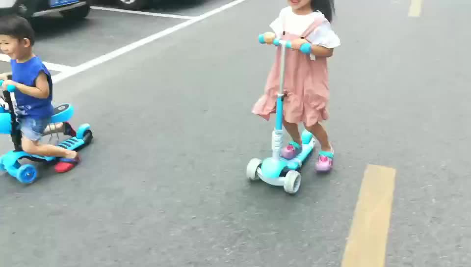 Chinese suppliers 3in1 kick scooter with seat online for kids