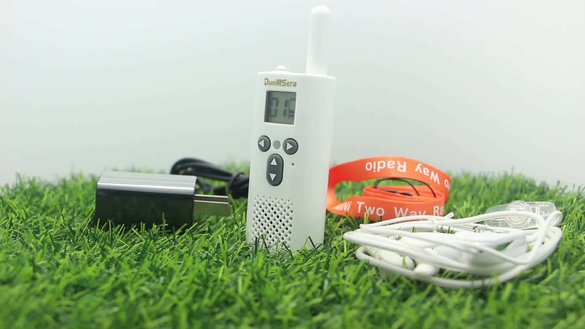 1-3KM Multifunction mini two way radio earphone walkie talkie fm for restaurant villa beauty hair salon hotel