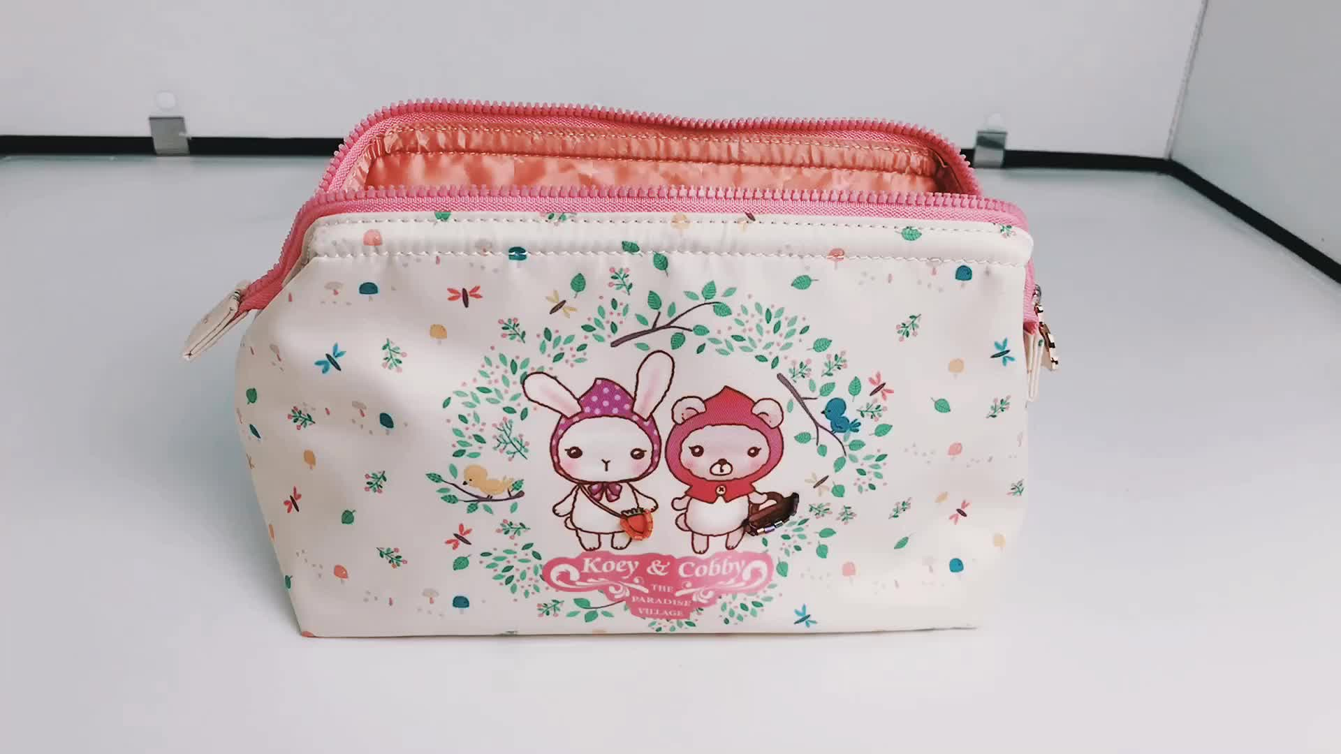 Fashion  Full Color Printed Travel Organizer Storage Case Women Makeup Cosmetic Bag