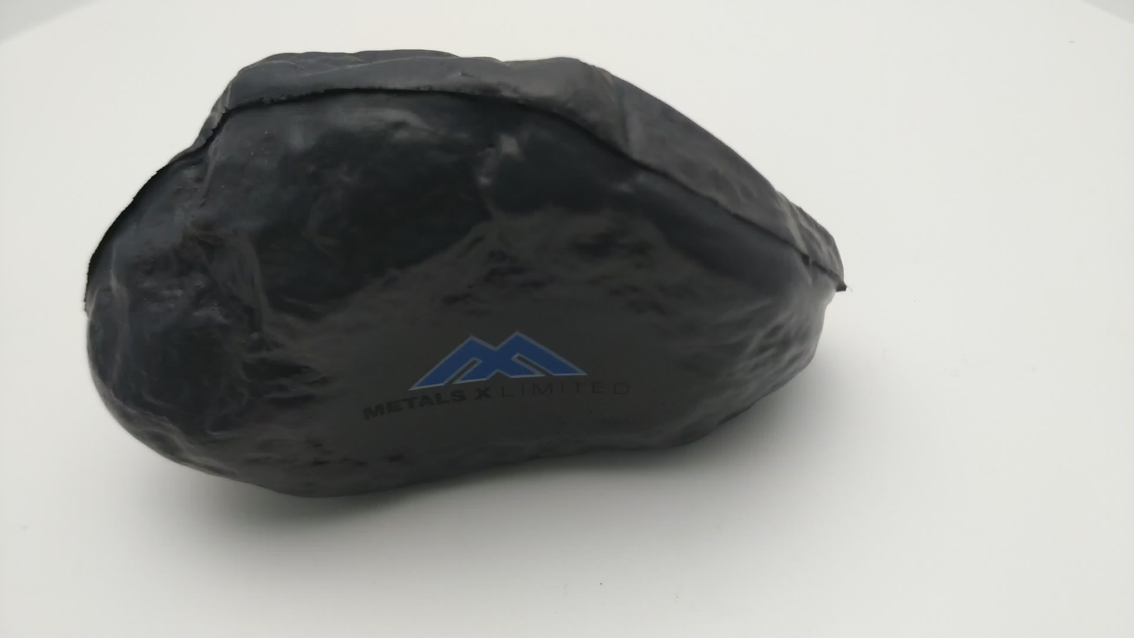New Innovative Anti Stress Pu Rock Toy Soft PU Foam Rock Stress Reliever Toy With Customized Logo