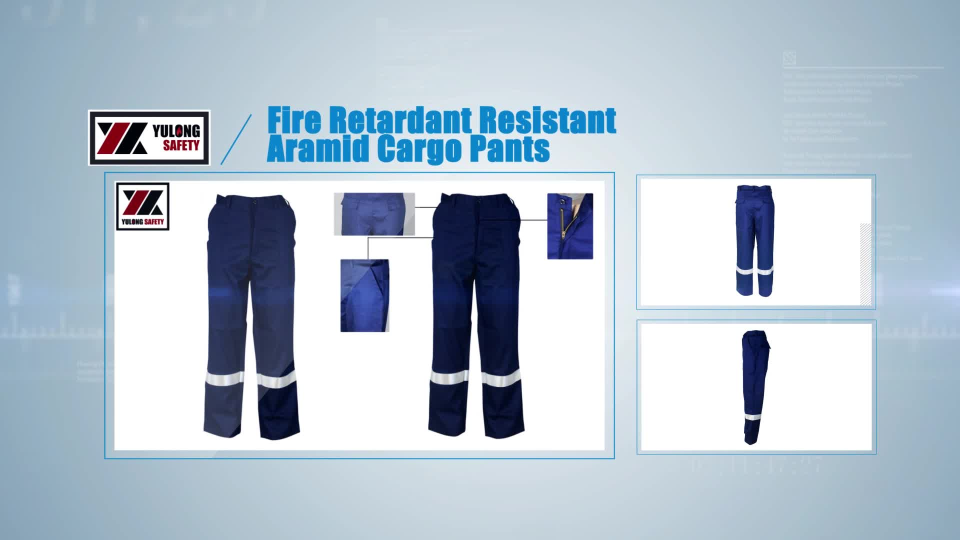 Wholesale Straight Casual Work Cargo Safety Reflective Trousers