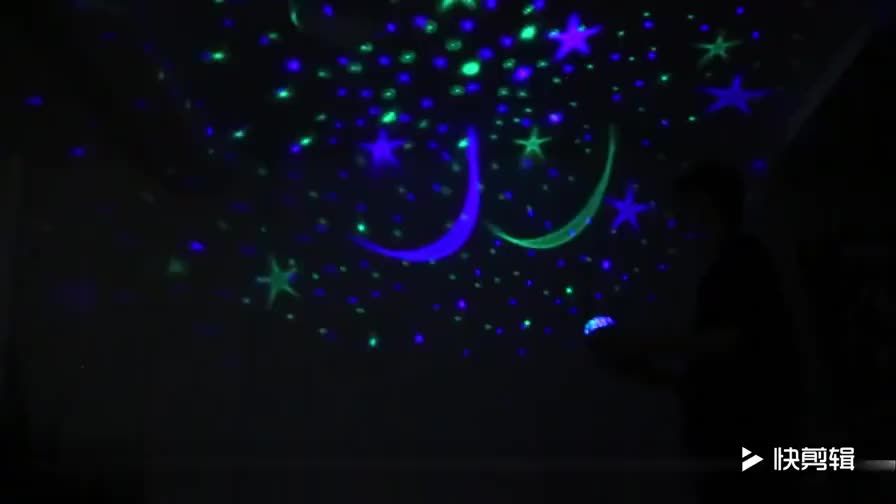 Beauty Star Projector lamp,360 degree rotation baby night Light moon sky nightlight 4 LED Bulbs 9 Light Color Changing With USB