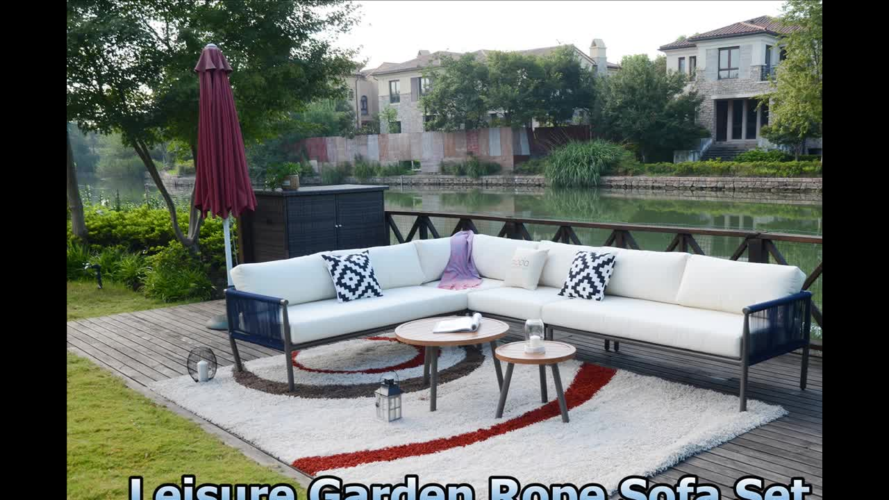 2018 Morden Living Hot Selling Outdoor Rope 6pieces Sofa Set