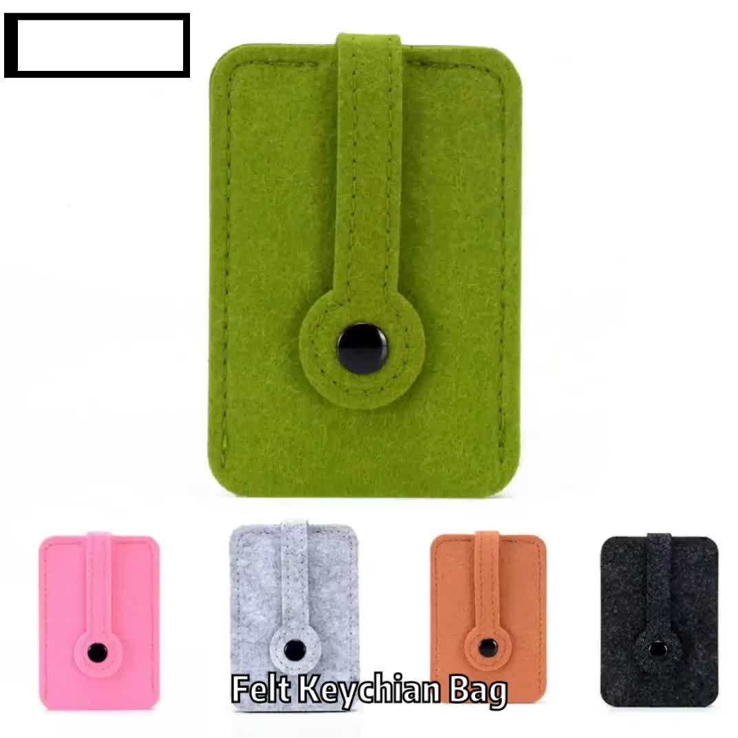 Popular Colorful Multifunctional  Craft Top Quality Felt Car Key Chain Holder