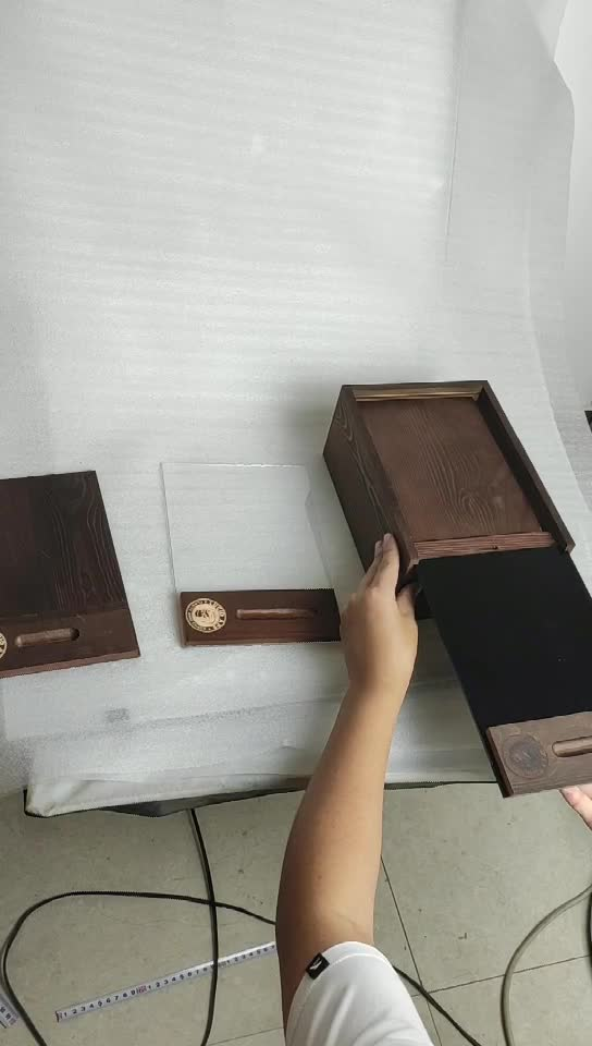 First Quality Cheap Birch Plywood Wood Gift Box with Custom Slide Lid