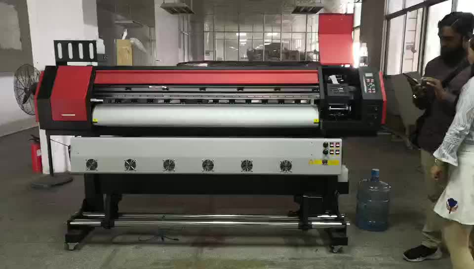 small size crystaljet 1.6m eco solvent printer vinyl flex banner printer for sticker inkjet printer