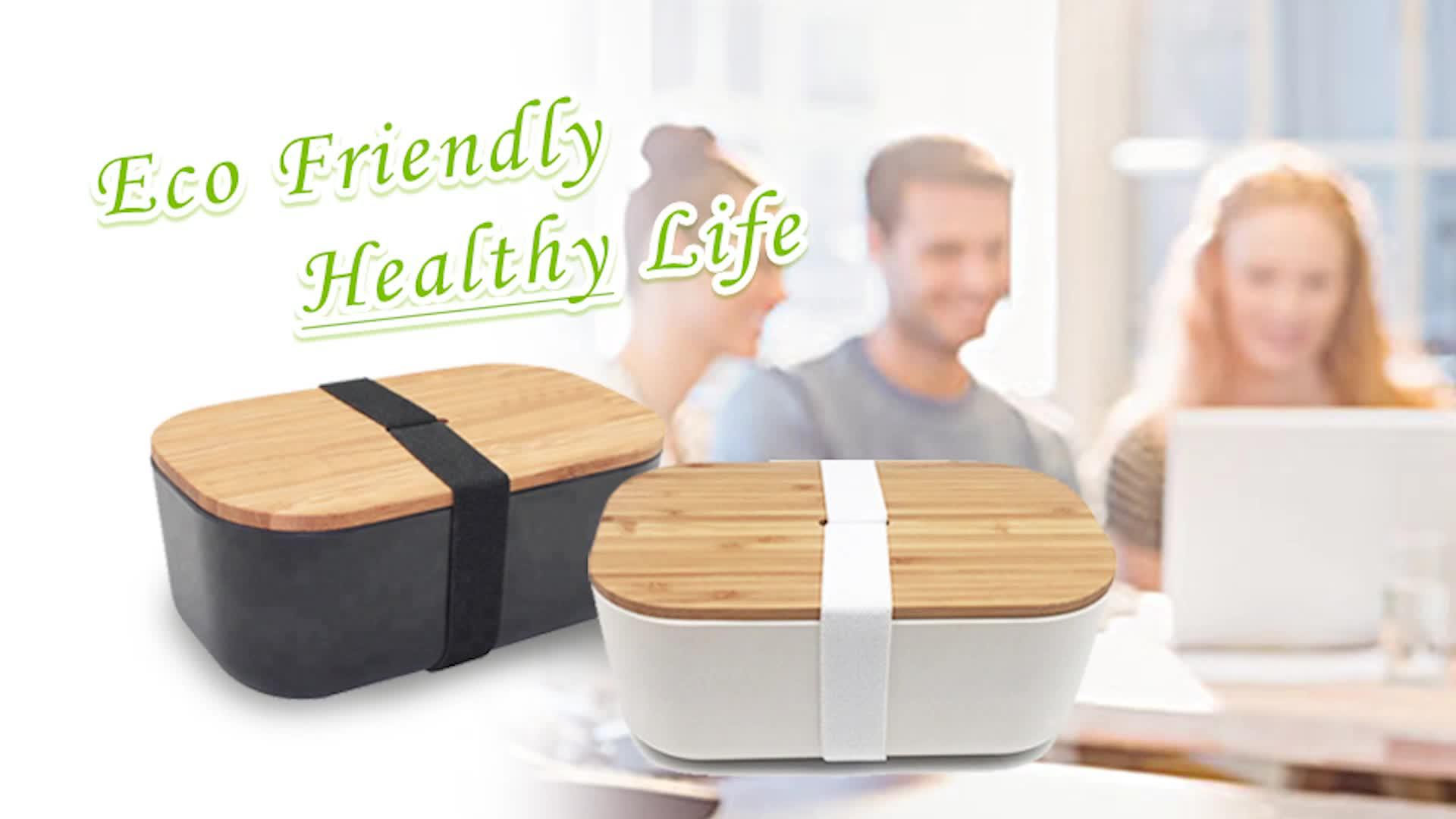 2019 venta al por mayor de material de fibra de bambú de almuerzo para niños adultos