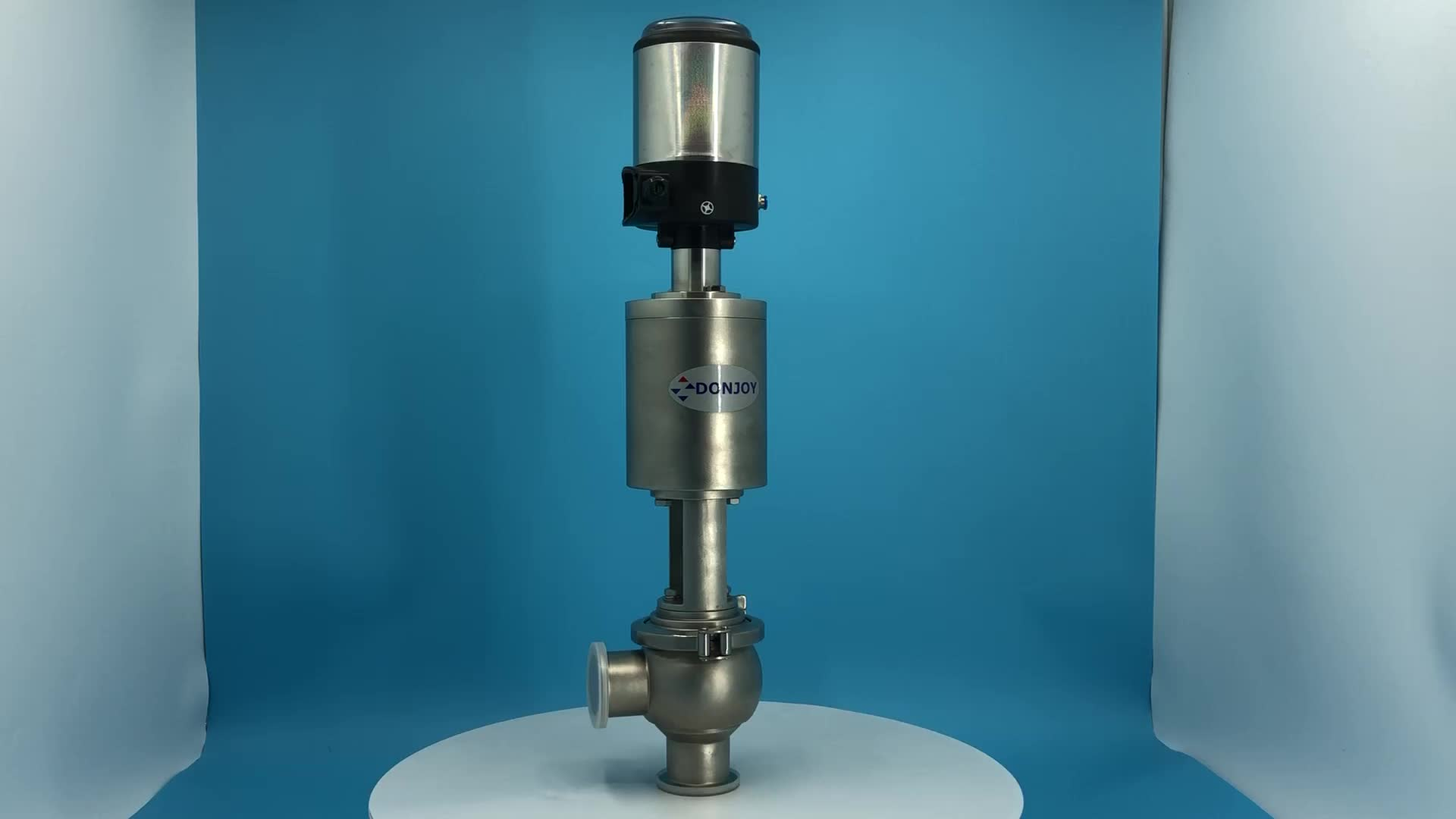 DONJOY high quality hygienic pneumatic  divert seat valve with control unit