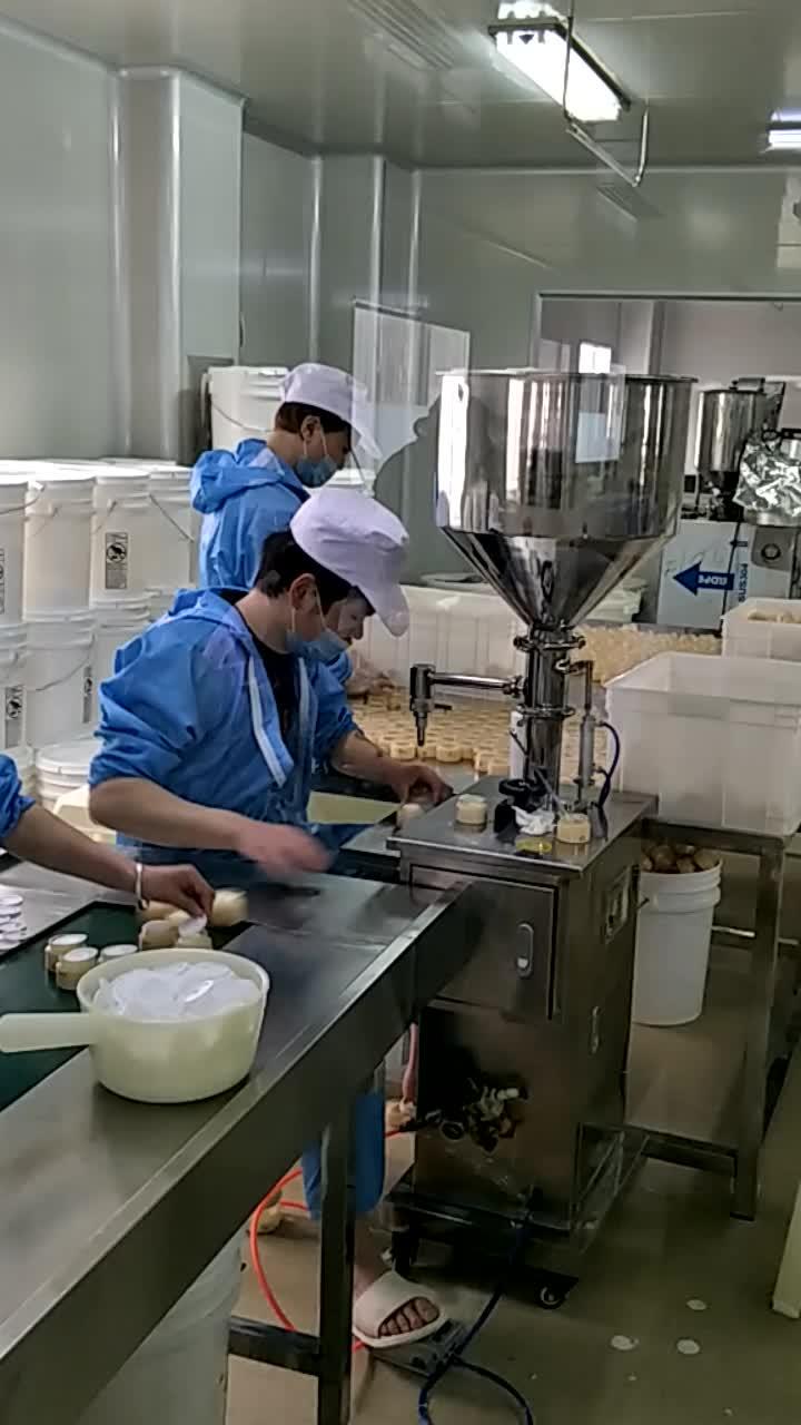 Semi Automatic Liquid Pneumatic Filling Machine For Filling Cream
