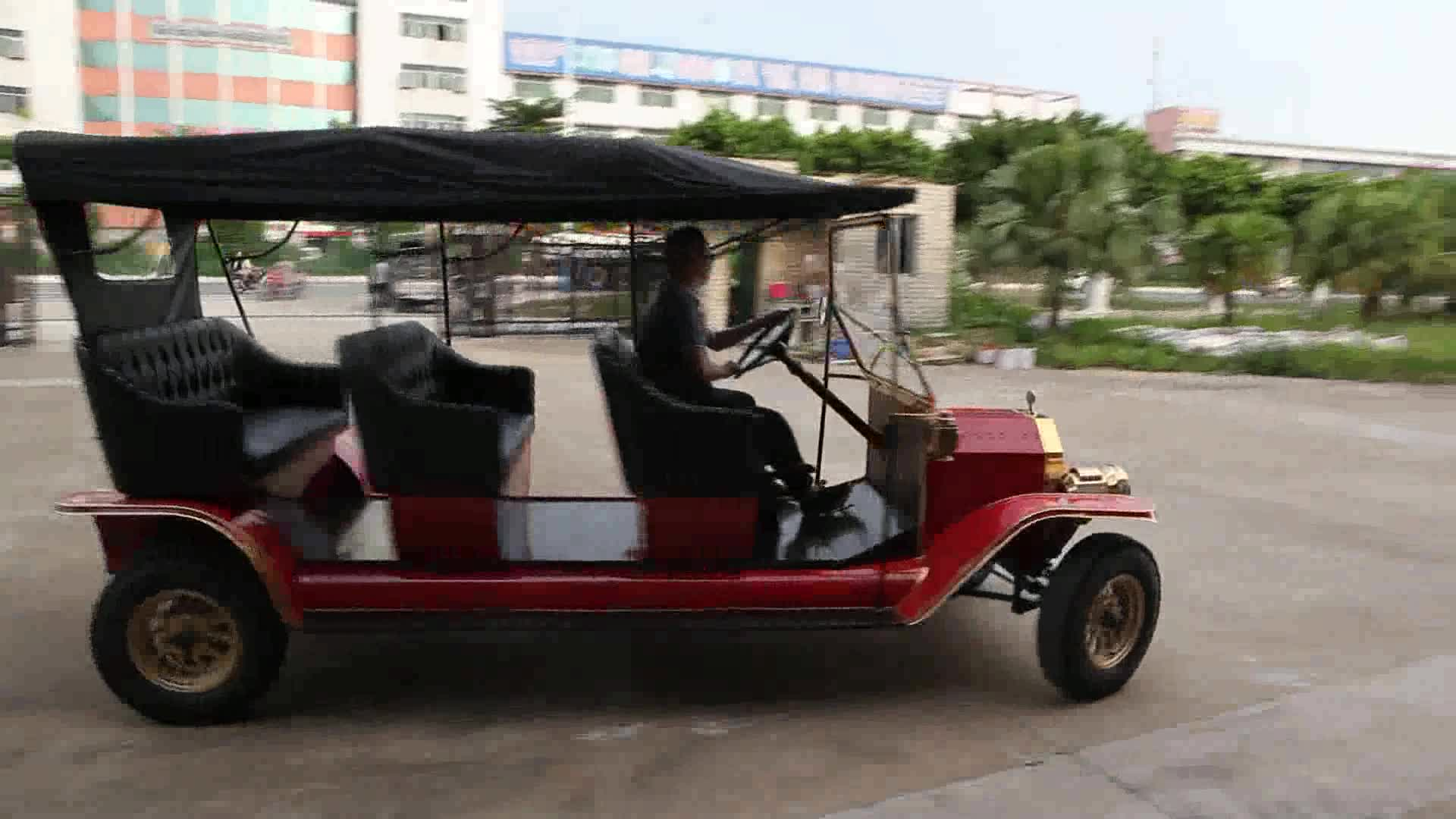 Guangzhou 48 v golfkar elektrische klassieke sightseeing auto