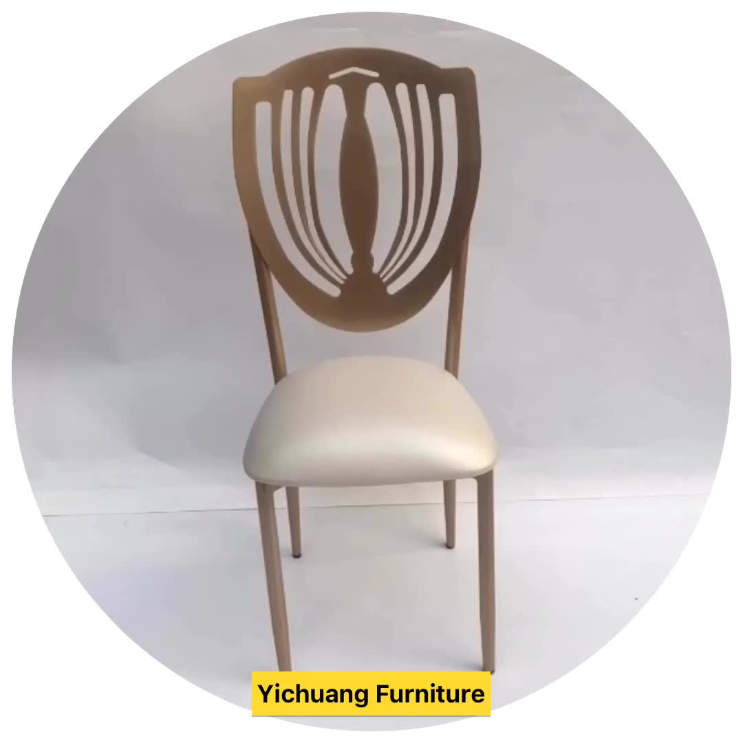 Hotel Furniture of  wholesale,  New design Luxury  Rose Gold metal phoenix chair with white cushion ues wedding dining  banquet