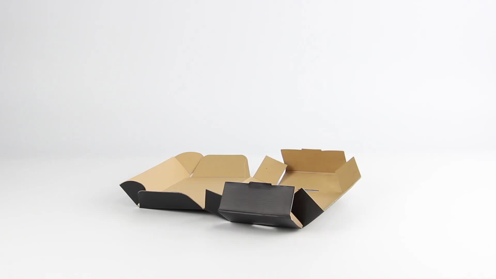 Custom Die Cut Postal Flat Cardboard Kraft Pink Small Packaging White Corrugated Black Color Mailing box