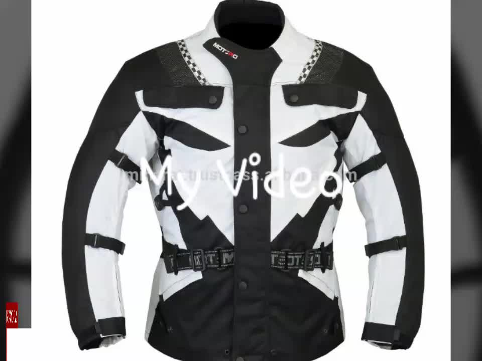 Red Motorcycle Motorbike Armoured waterproof Cordura Textile Jacket Collection All Weather CE Approved