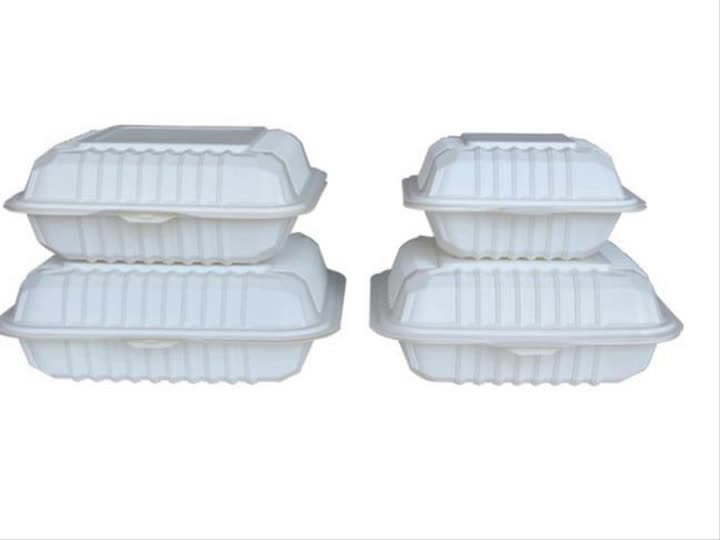 High quality 6inch 8inch 9inch takeaway packaging disposable biodegradable corn starch lunch box