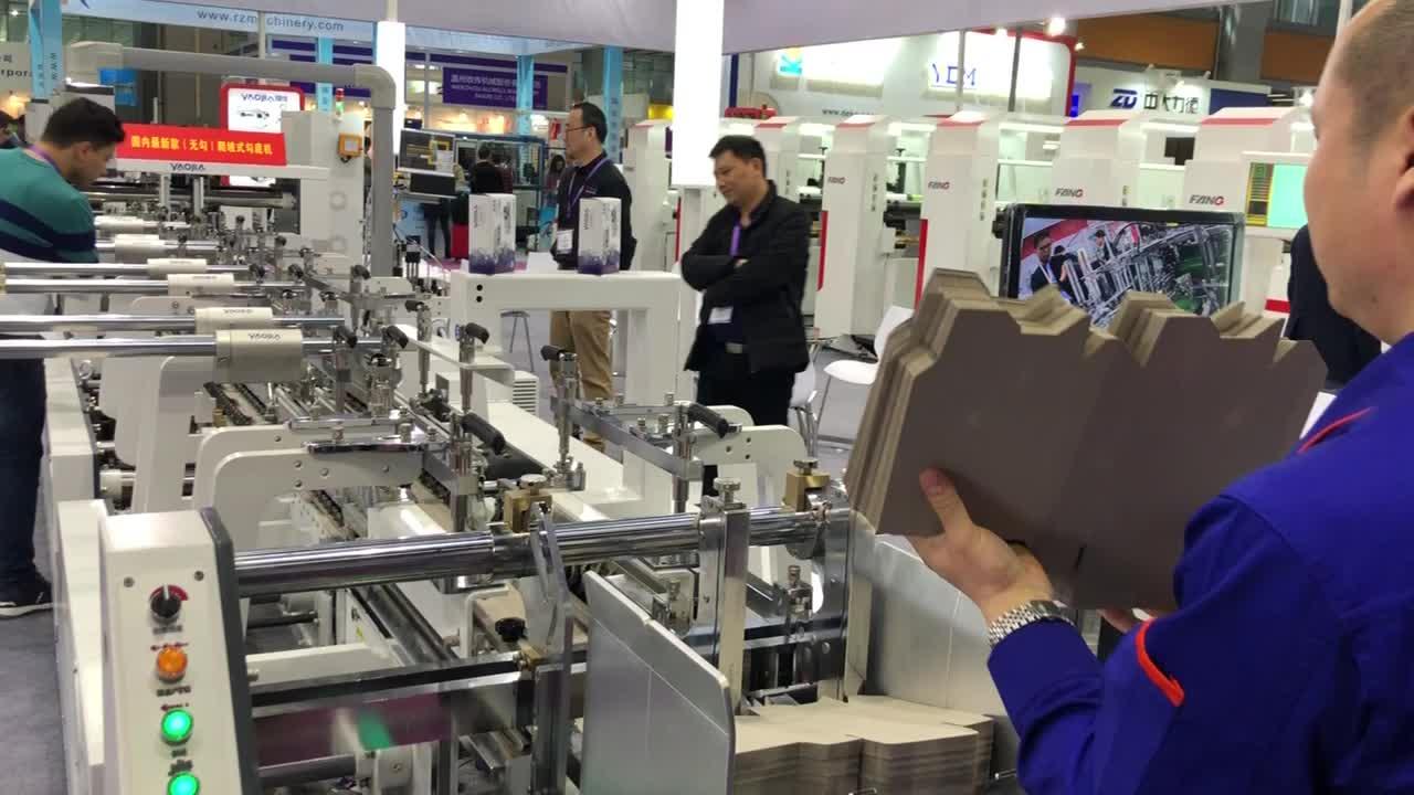 1200A Good Sale Fully Automatic Box Folder Gluer Machine