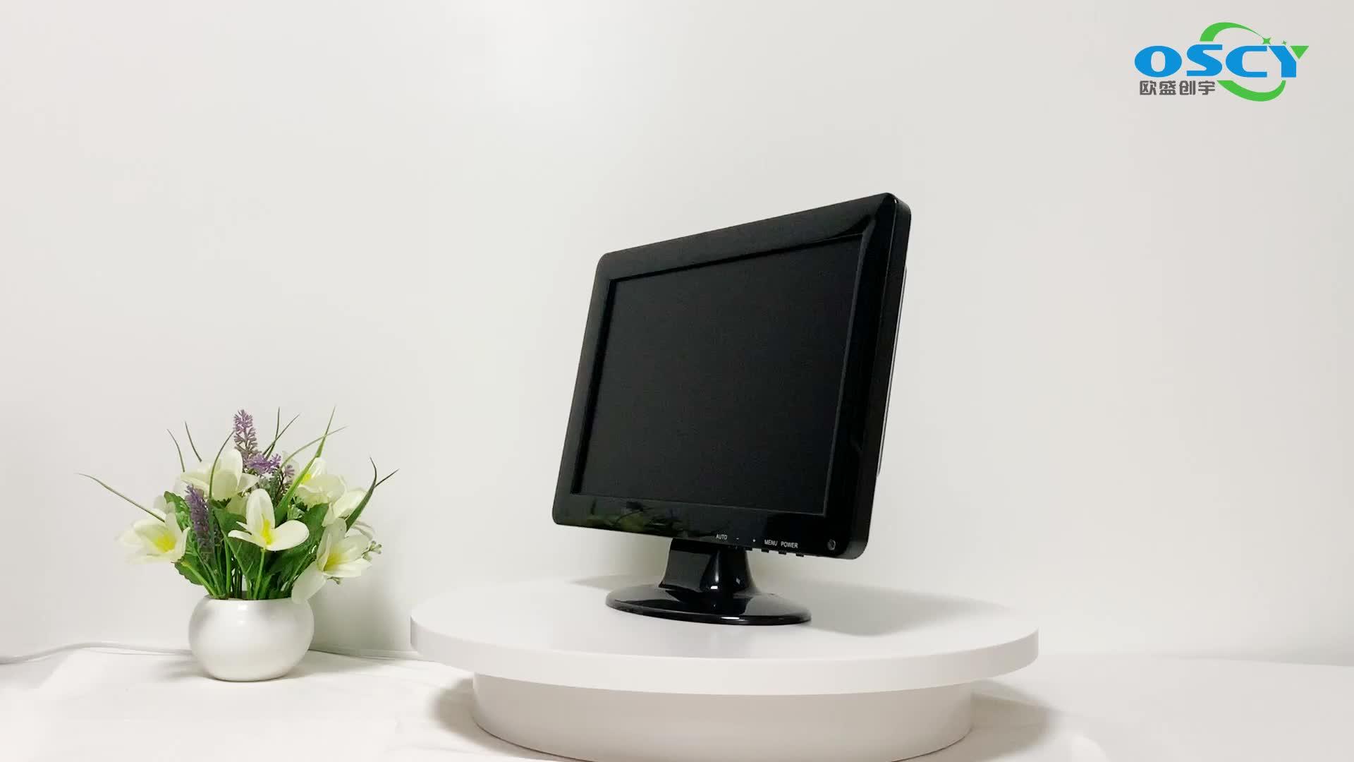 """12 """"geniş ekran HD monitör bilgisayar ekranı BNC/HD/VGA/USB/AV led monitör"""