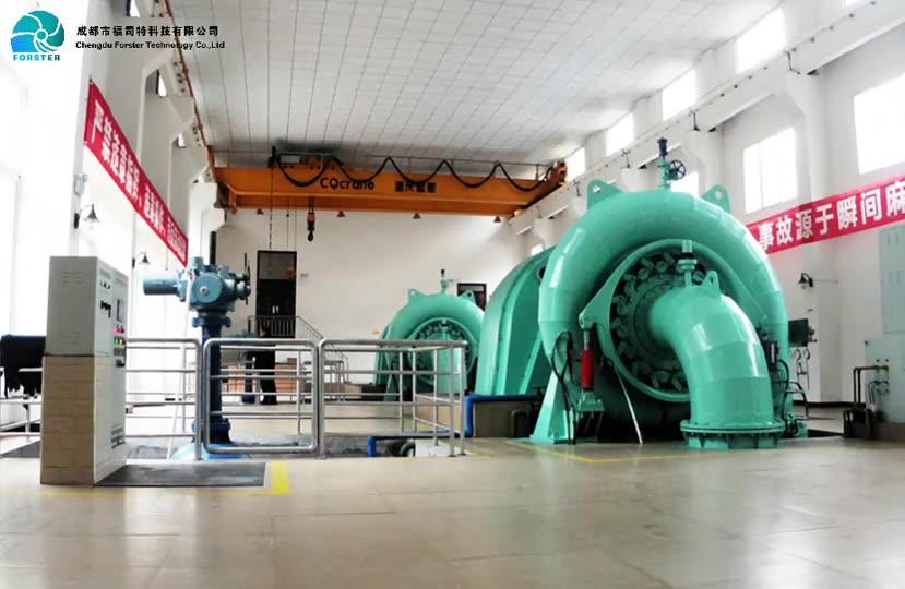 Automated Control System Thyristor Excitation Microcomputer Hydraulic Governor Gate Valve  Hpp 1mw Francis Turbine