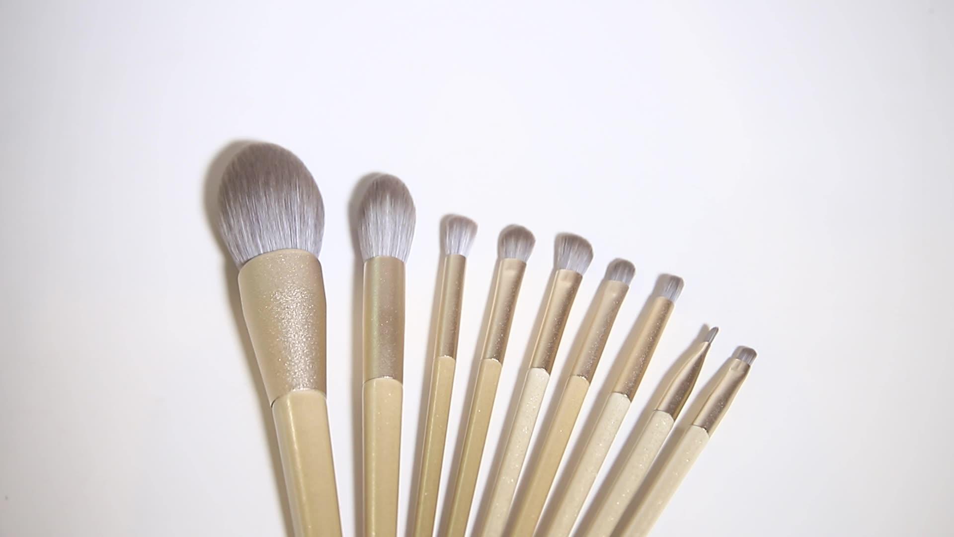 Conjunto de escova de olho para maquillajes, 4 peças