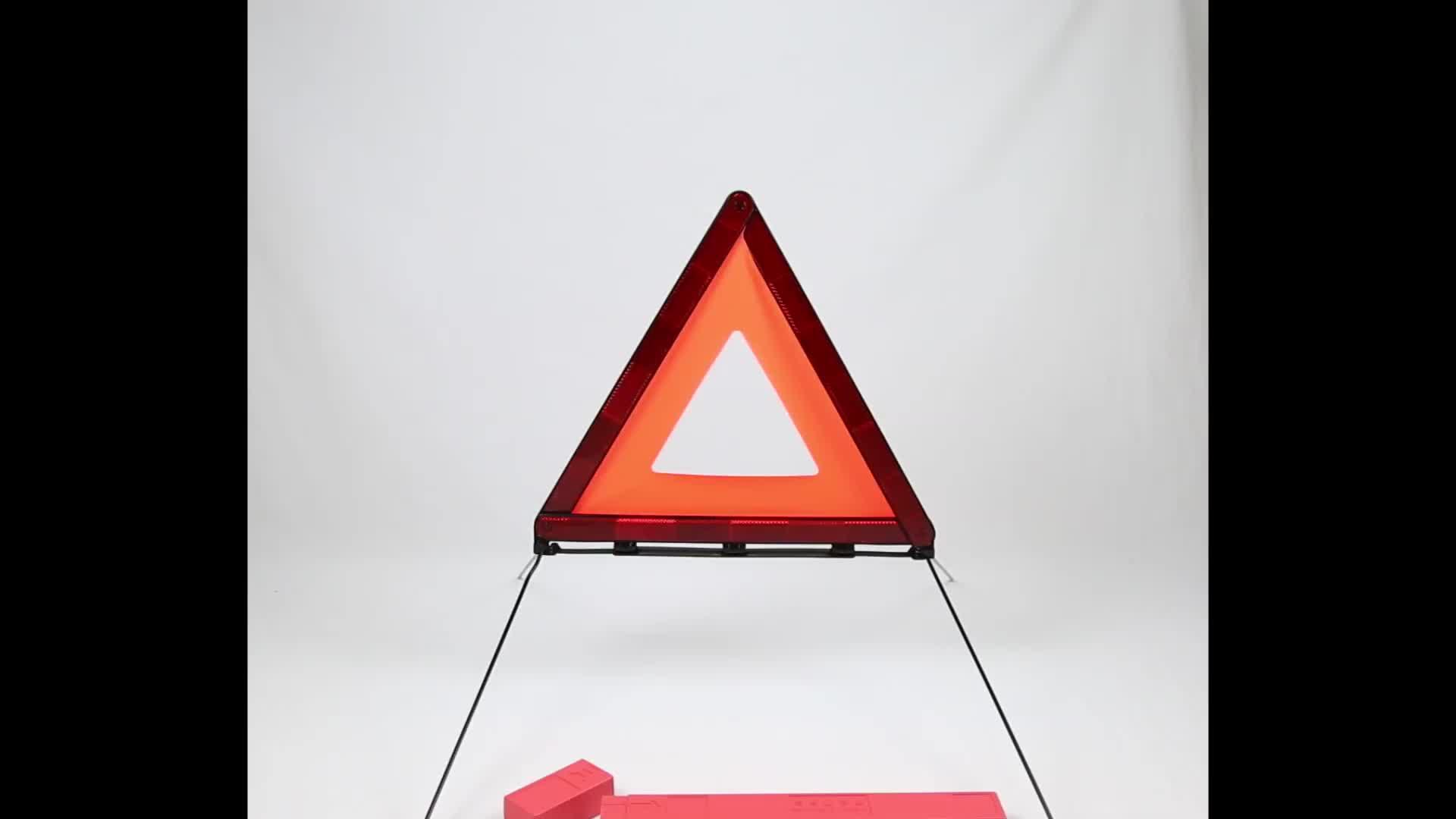 ECE R27 Hotsale Slow Moving Emergency Reflector Board Reflective Dot Car Vehicle Traffic Sign Safety Warning Triangle