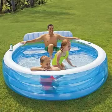 Intex 57190 Swim Center with Built-in Bench Family Lounge Pool