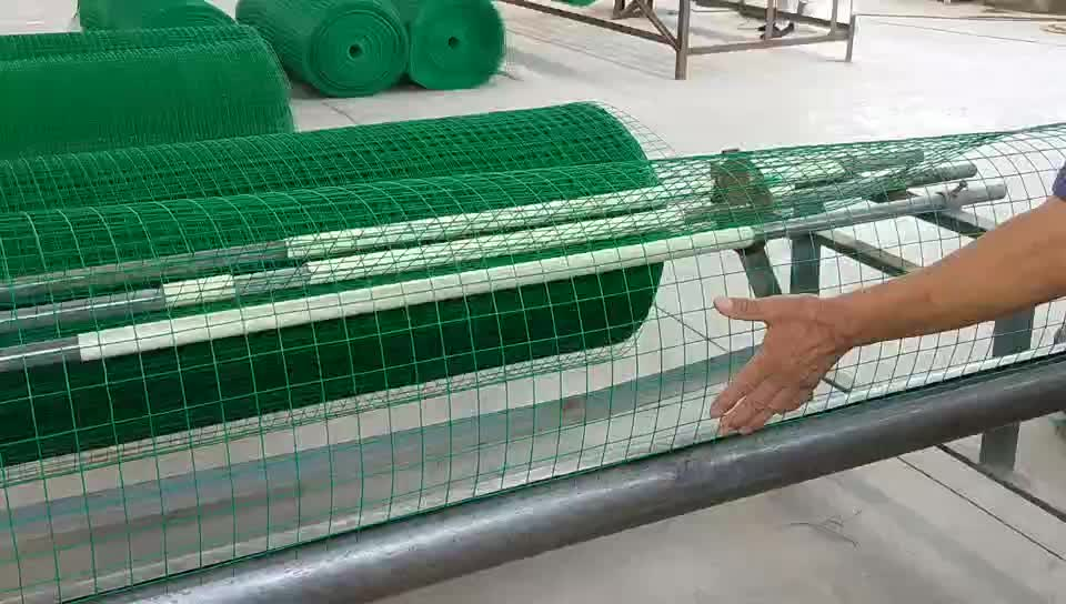 Cheap oem high quality PVC coated green welded wire mesh roll