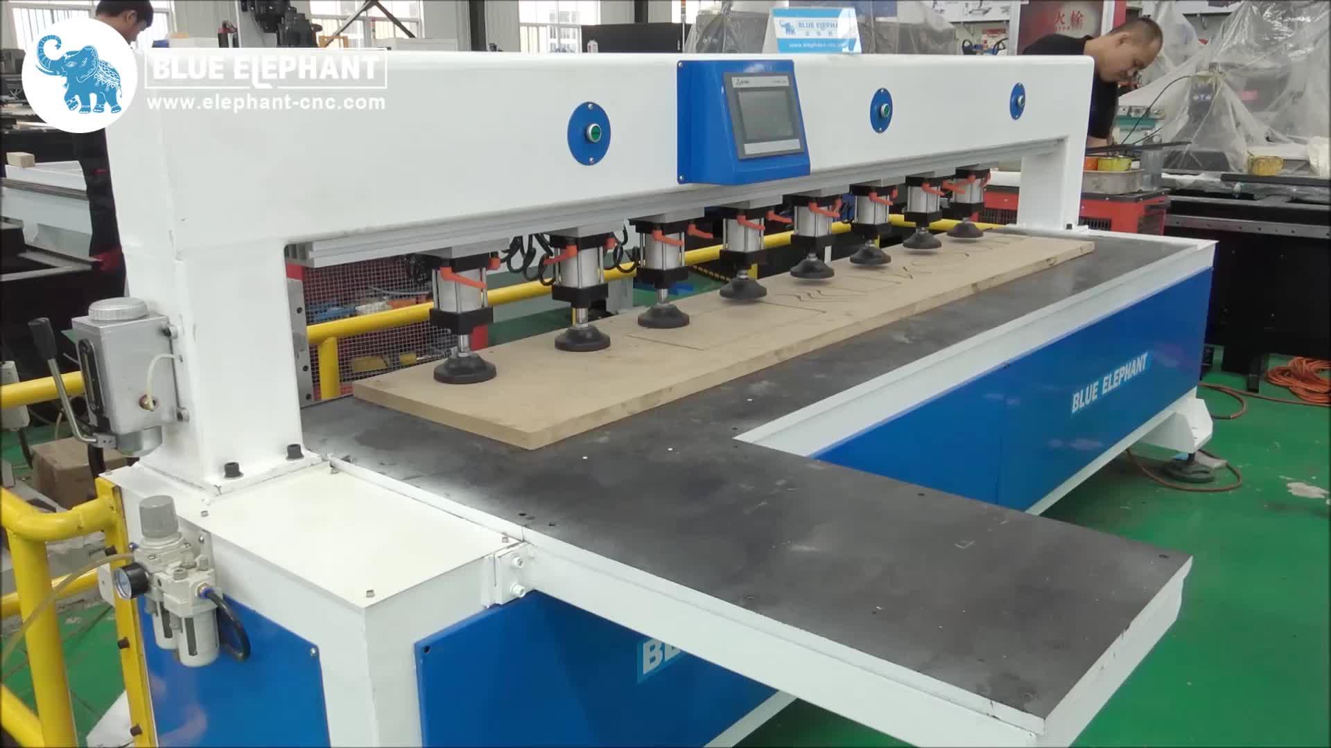 BLUE ELEPHANT ราคาถูกความเร็วสูง CNC ไม้ด้านข้างเครื่องเจาะสำหรับ nesting เฟอร์นิเจอร์การผลิต