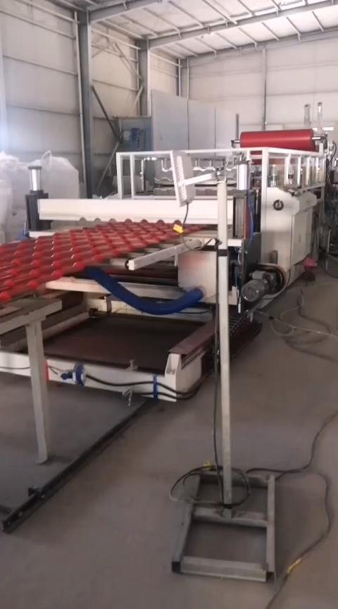 Machine à emballer des carreaux de toit glacé en PVC/ASA, pour l'extrudeuse en résine, offre spéciale