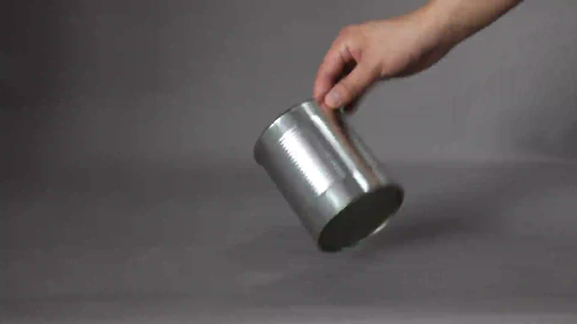 1L Round White Paint Tinplate Container Metal Tin Can