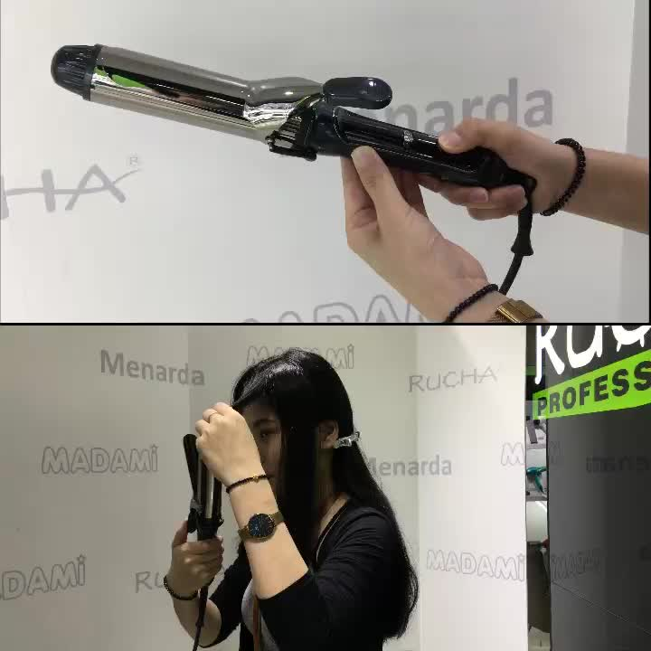 Hot tools hair curling iron private label ceramic hair curler professional curling wand