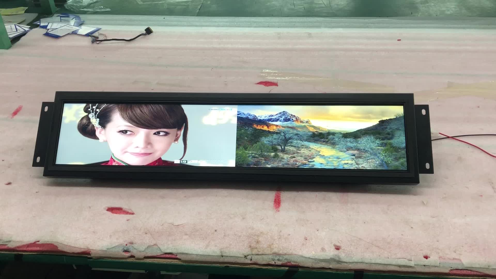 """28 """"LCD open frame 1080 p Android wall-mount wifi netwerk lcd reclame speler"""