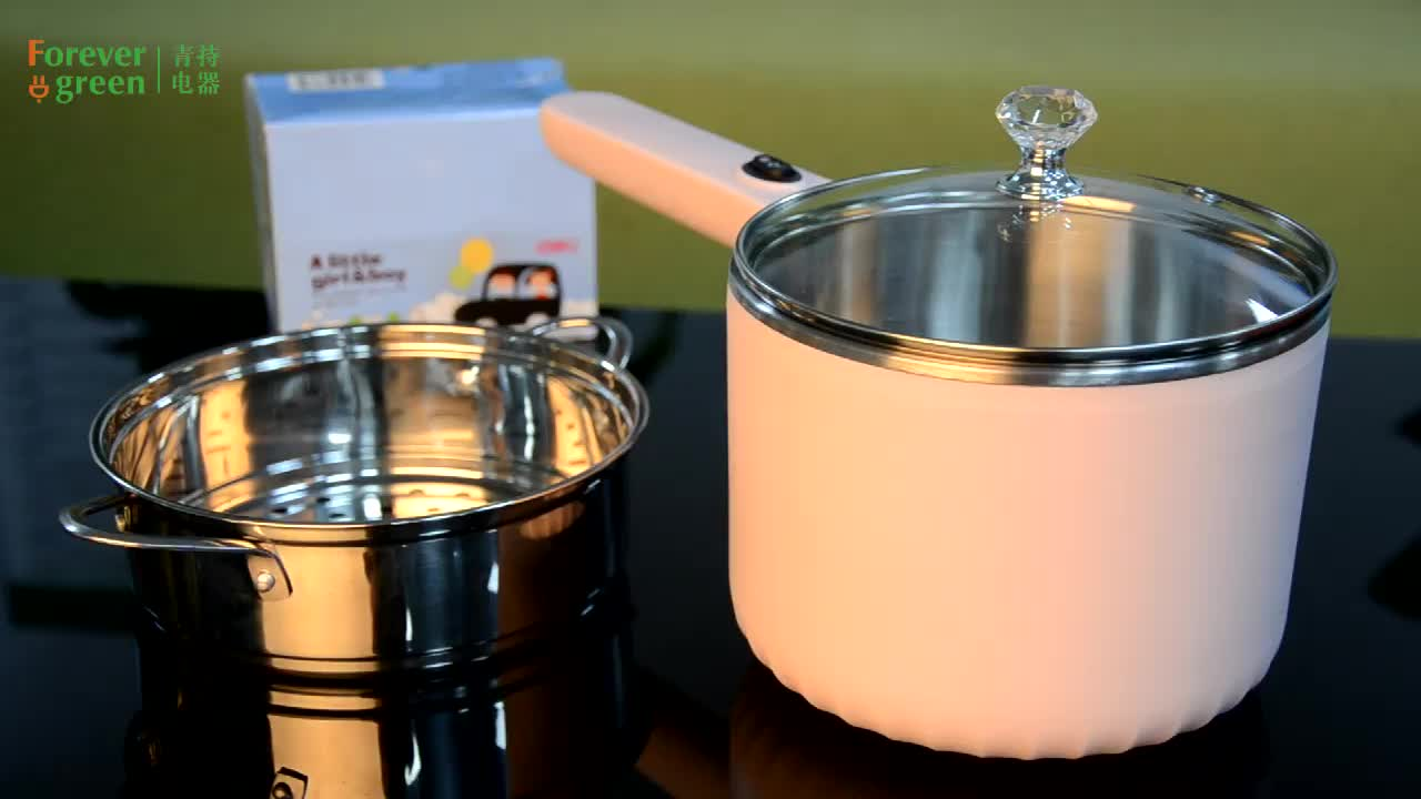 Hot sale multifunctional 1.5L stainless steel small cooking pot electric mini rice cooker