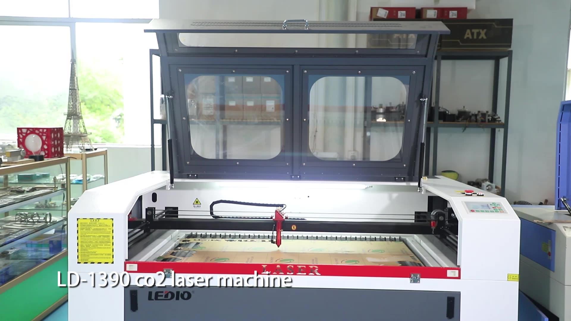 Guangzhou CO2 lazer kesme makinesi fiyat, cnc lazer kesici için kumaş, deri, tekstil, metal olmayan malzemeler