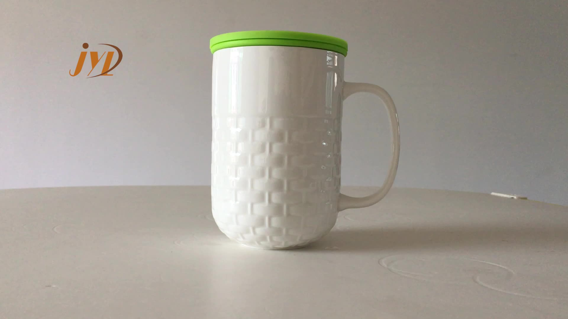 JINYUANLI factory outlet multiple color office used custom reusable ceramic tea mug infuser cup with lid