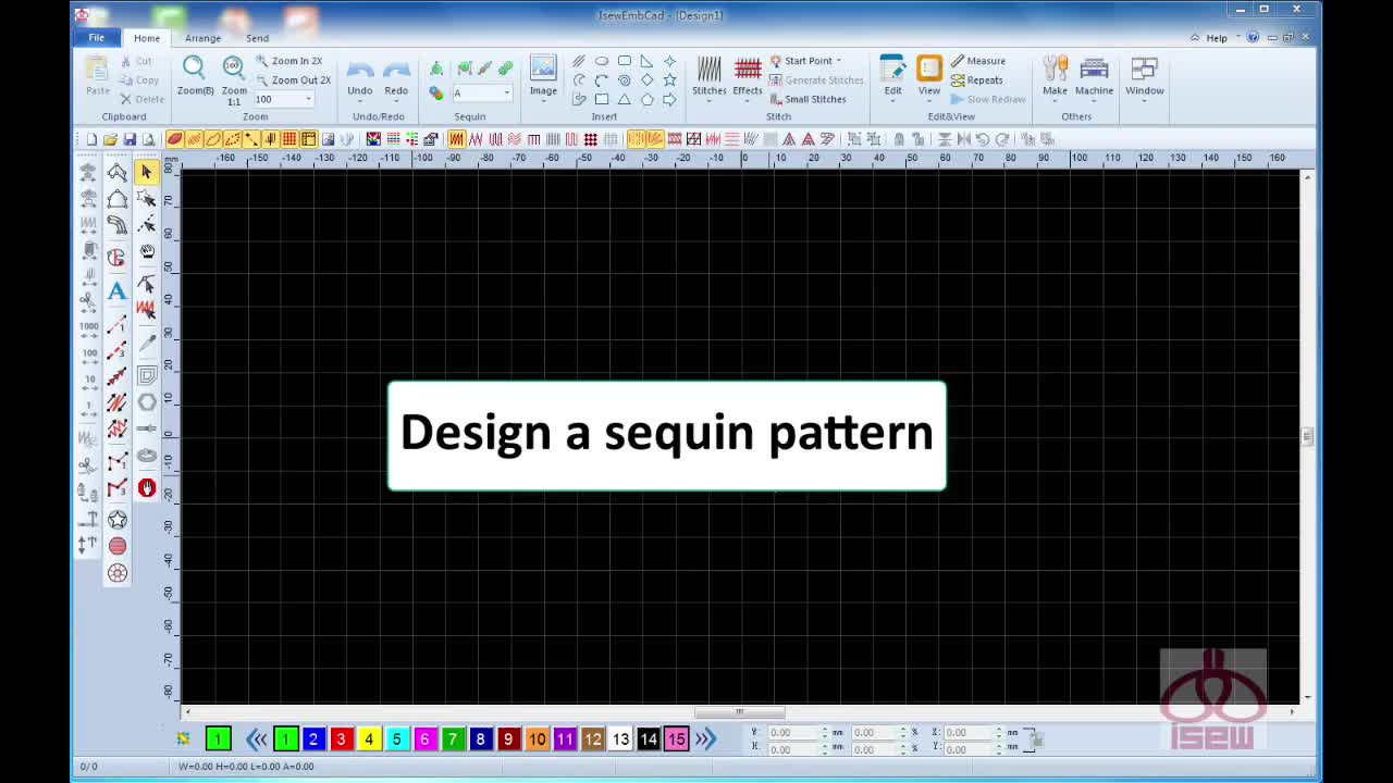 Emcad Pattern System embroidery design software from Wonyo