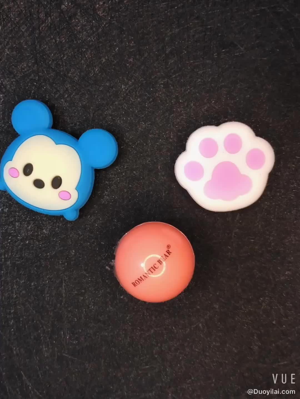 Your Brand  Custom logo 6 Colors Round Ball Smooth Cute Lip Balm Moisturizing Lip Care LipBalm
