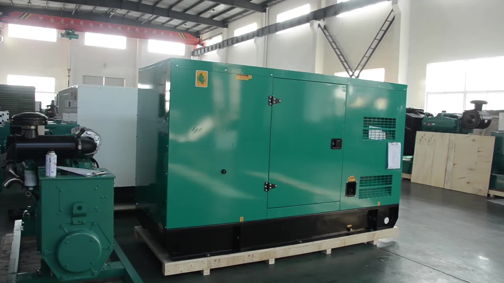 100KW 6BTA5. 9-G2 Elektrische motor 125KVA Diesel generator met Stamford