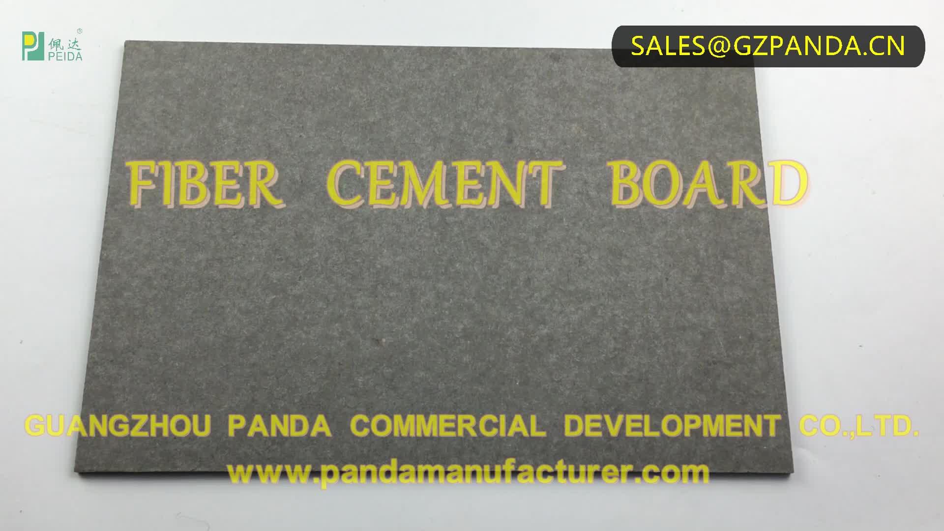 100% Non-Asbestos Color 6mm Wall Fibre Cement Board Panel Decorative