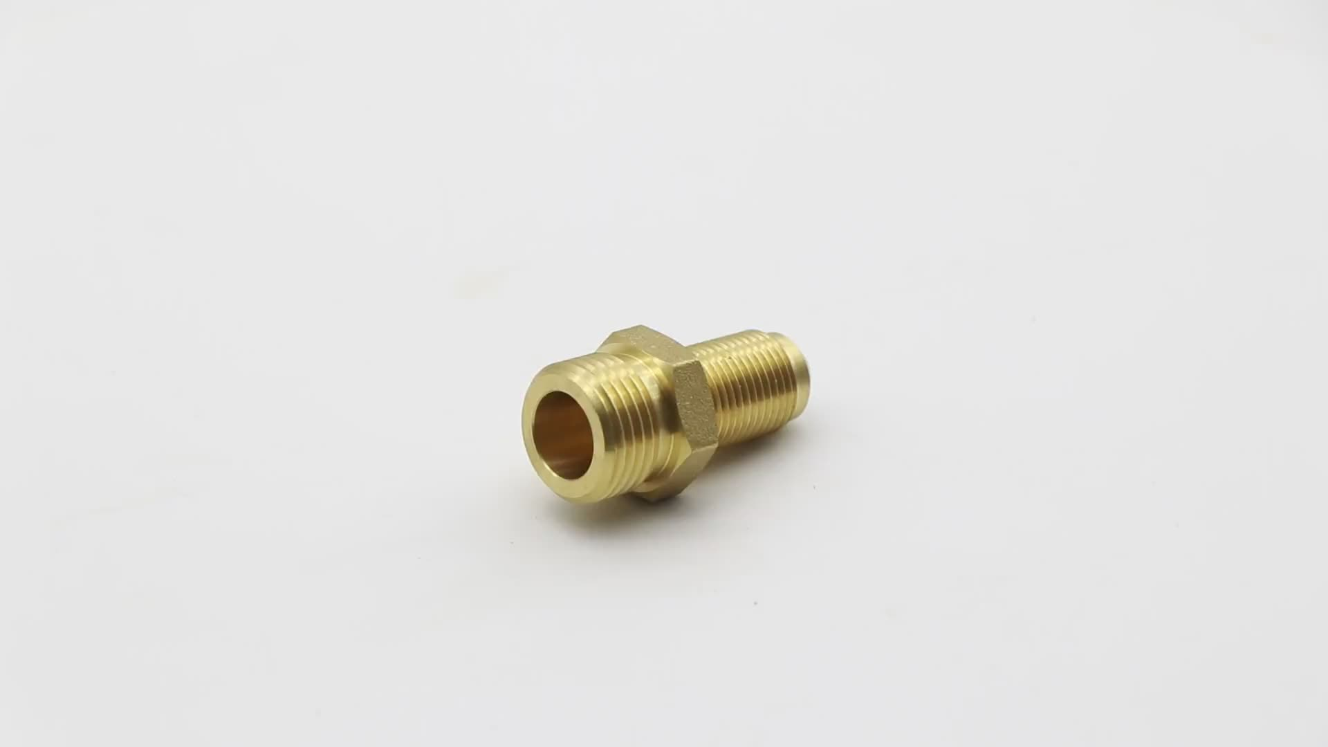 K528  45-degree angle male thread brass flare fitting quick coupling for motor homes