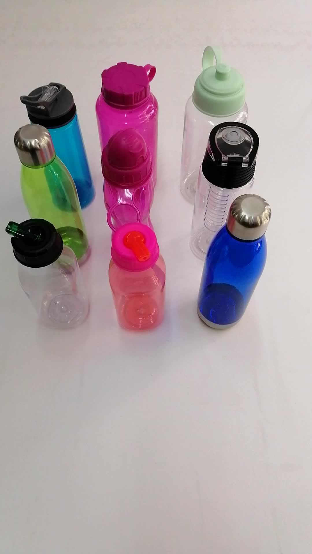 Çoklu renk 650 ml plastik sporcu matarası fitness için