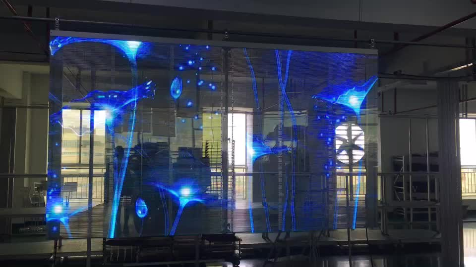 Hot Sale Full Color Transparent Glass Led screen display For Shopping Mall Window